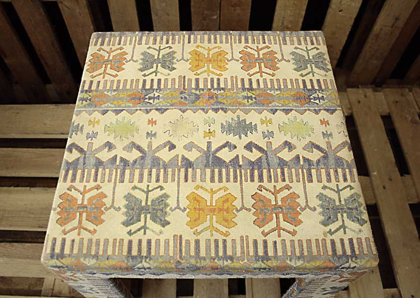 Ikat in Blue Cotton Table