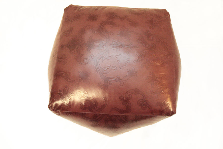 MARCEL Leather Pouf