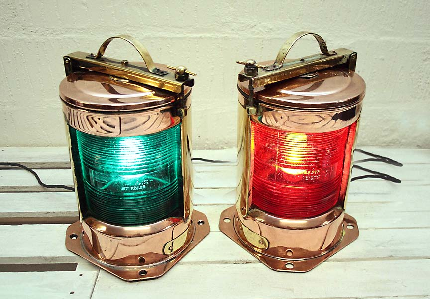 Pair of Royal Navy Ship's Lamps