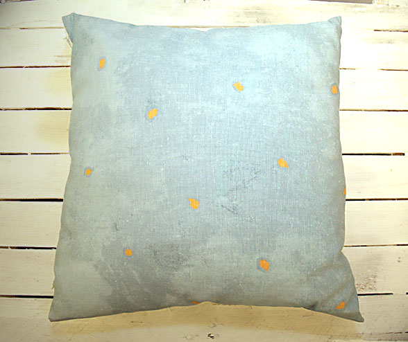 Vice Versa Cushion in Pale Blue