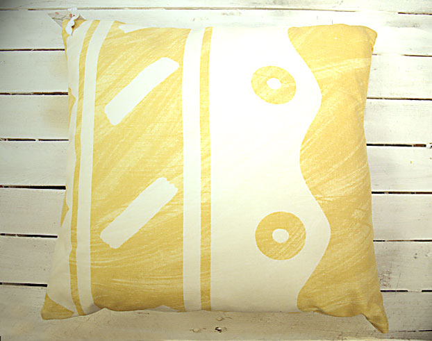 Vice Versa Cushion in Yellow