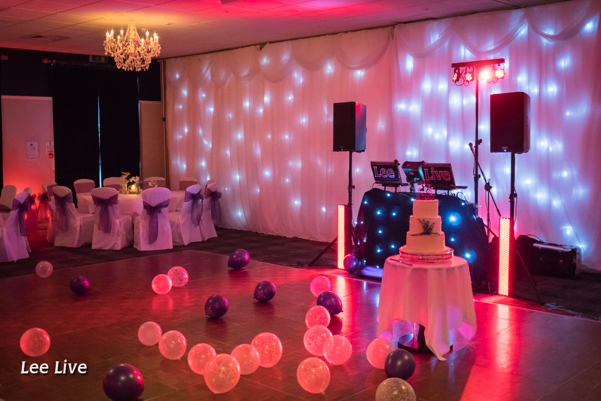 venues recommendedlee live: wedding dj