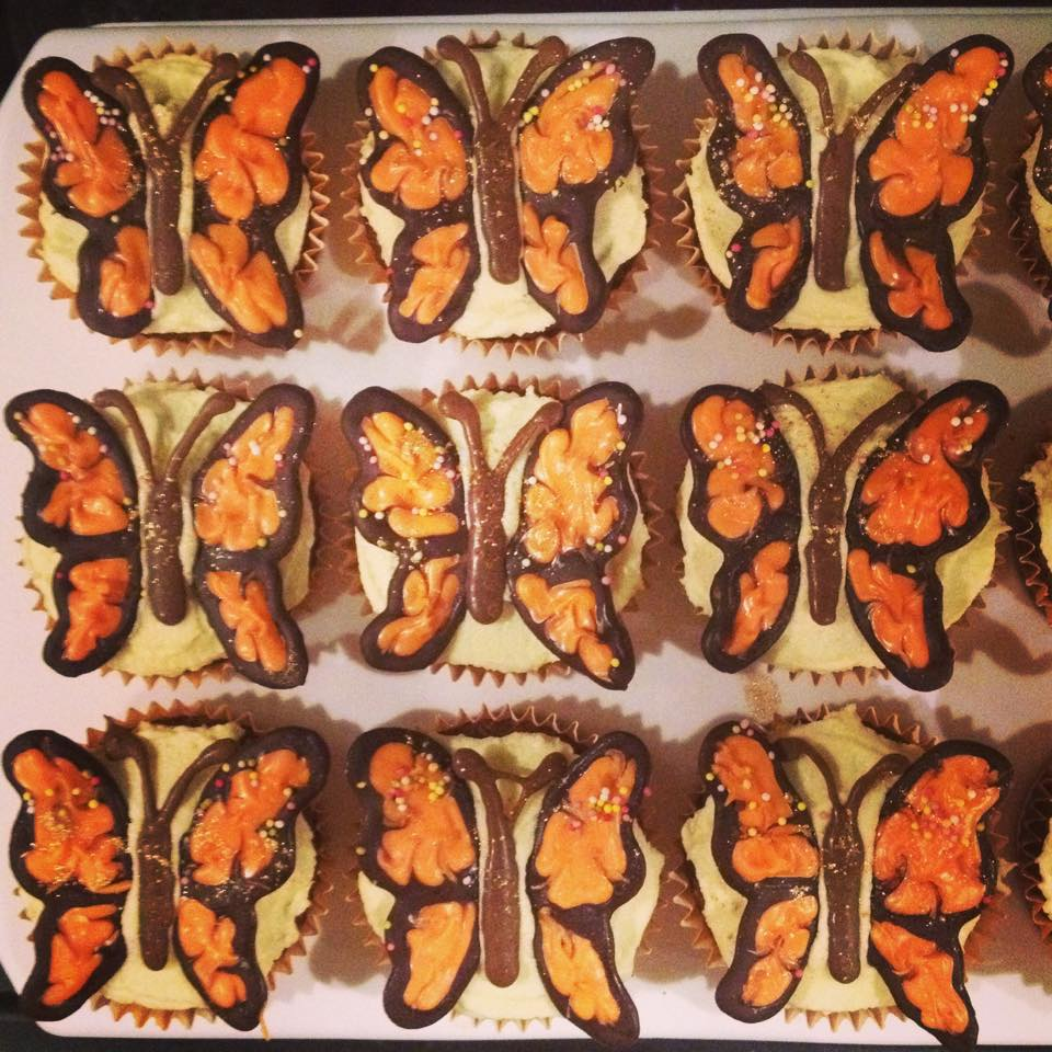 Handmade Chocolate Butterfly Cupcakes