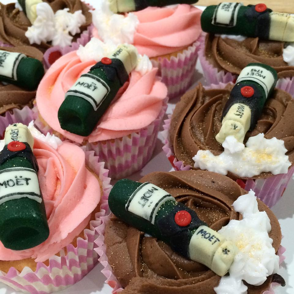 Moet Champagne Bottle Cupcakes