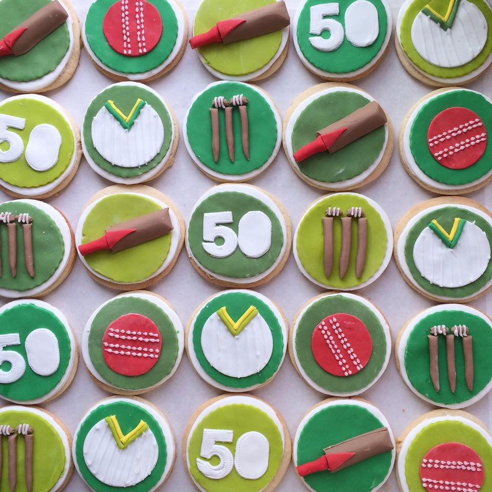 Cricket Themed Biscuits