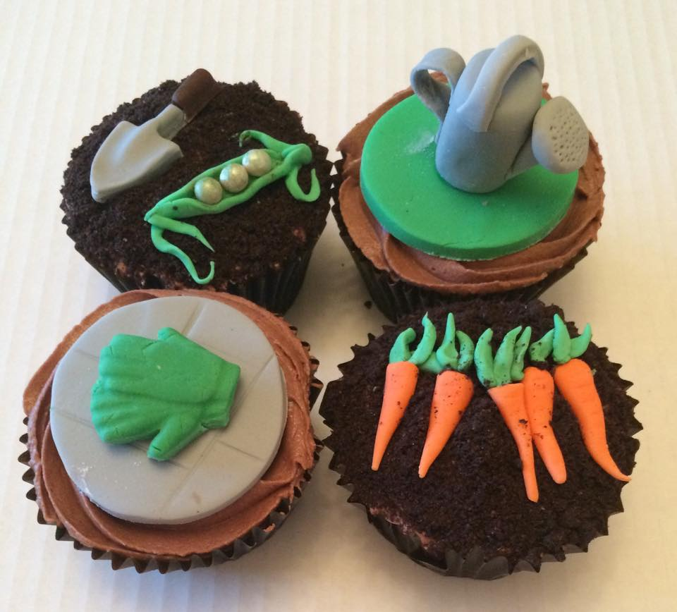 Gardening Themed Cupcakes