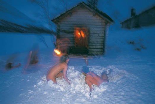 The best sauna in swedish lapland