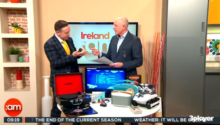 Tv3 Ireland AM, Thursday 2nd March, 2017: Retro Gadgets