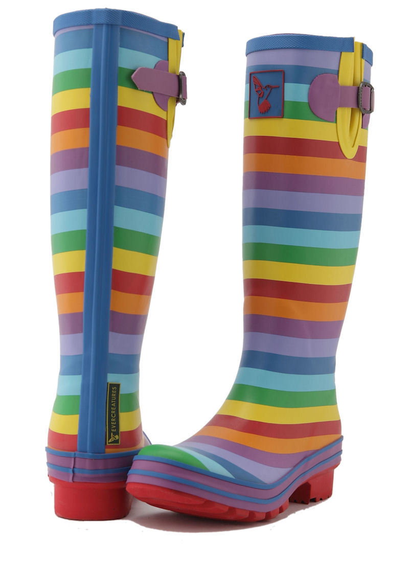 Rainbow Evercreatures Ladies Wellies Back