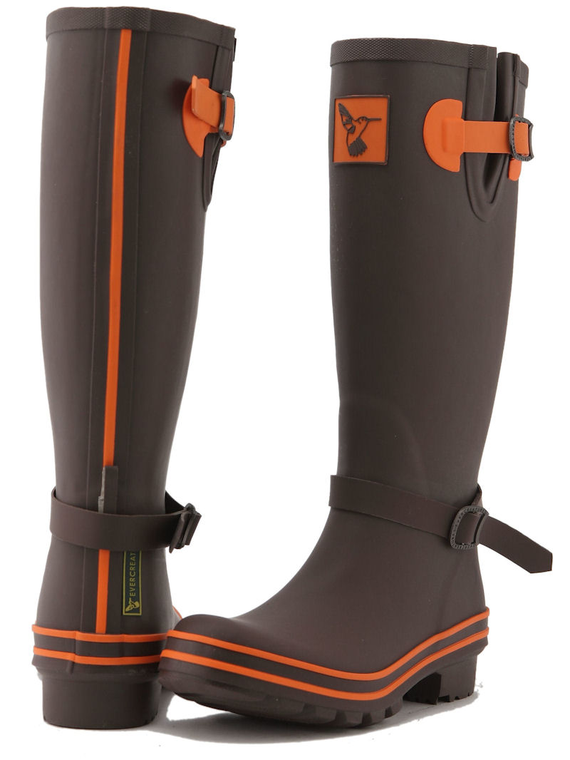 Terracotta Evercreatures Ladies Wellies Back