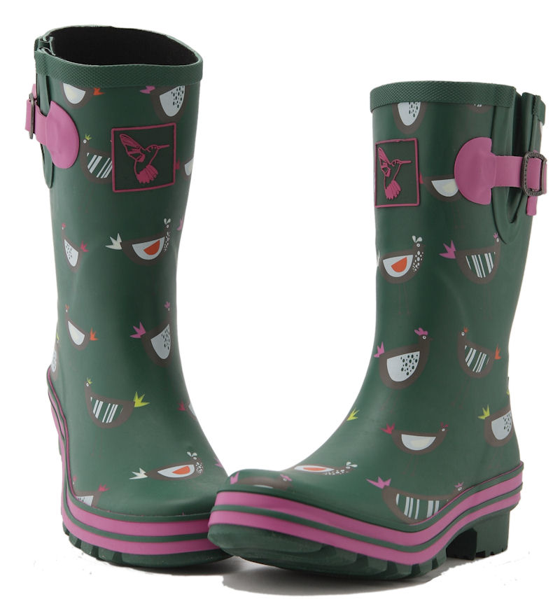 Gingham Evercreatures Short Wellies Toes Together