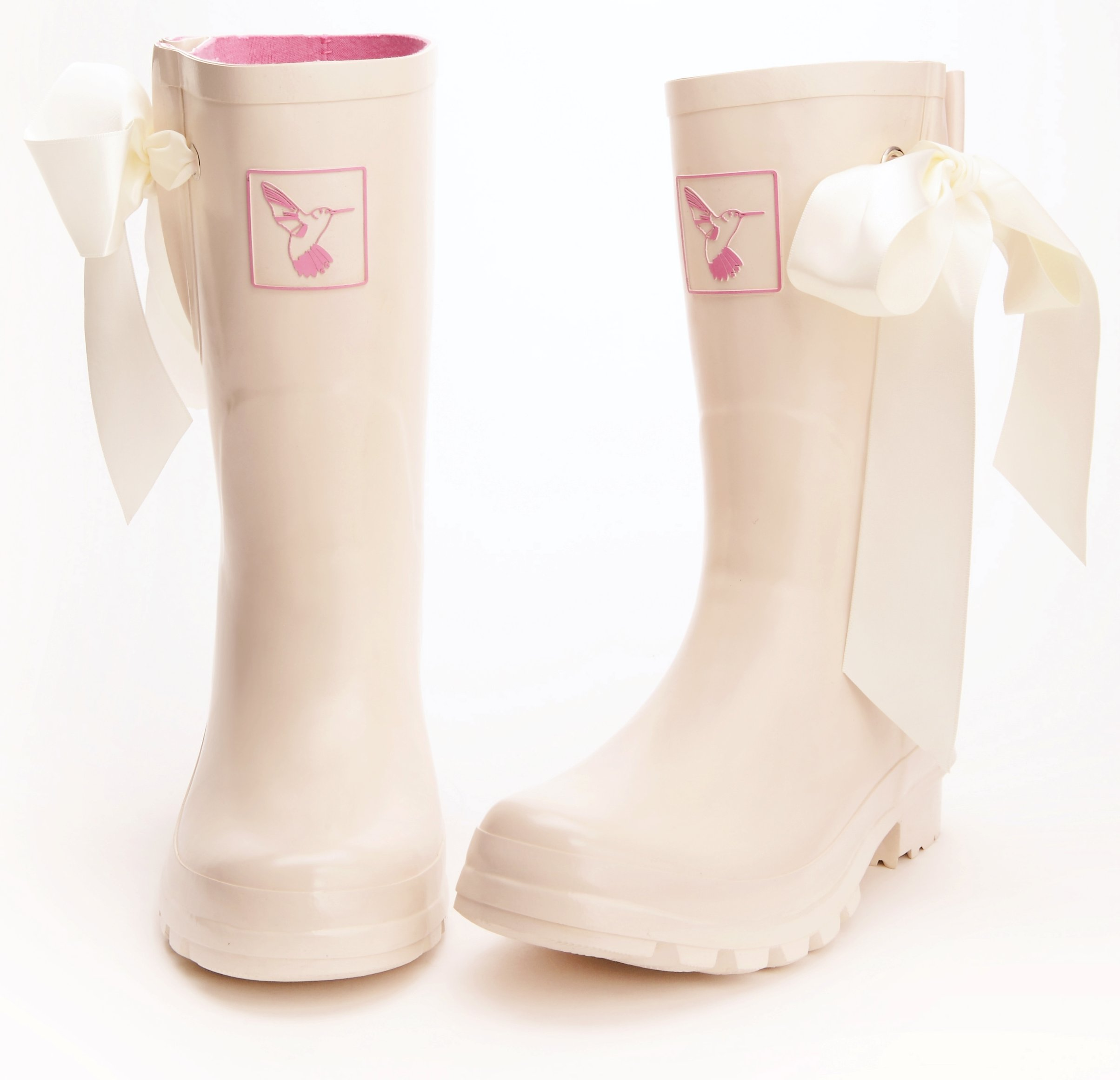 Short Wedding Wellies with Bow