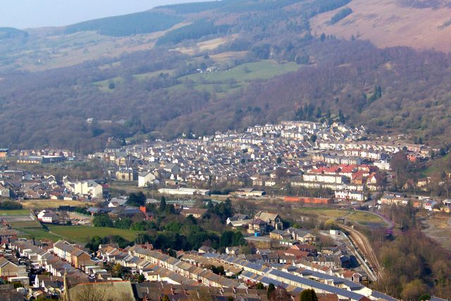 View of Mountain Ash from Perthcelyn