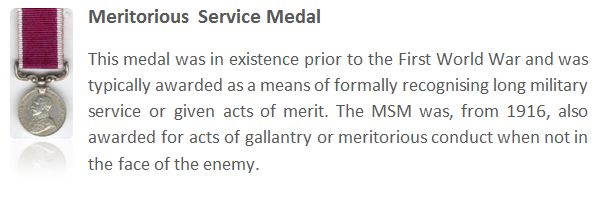 The Meritorious Service Medal