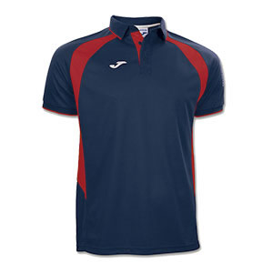 Joma Champion III Polo Shirt- NAVY & RED