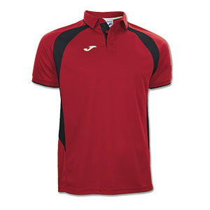 Joma Champion III Polo Shirt- RED & BLACK