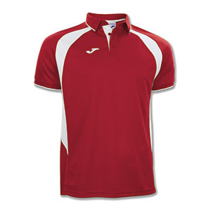 Joma Champion III Polo Shirt- RED & WHITE