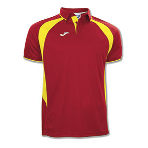 Joma Champion III Polo Shirt- RED & YELLOW