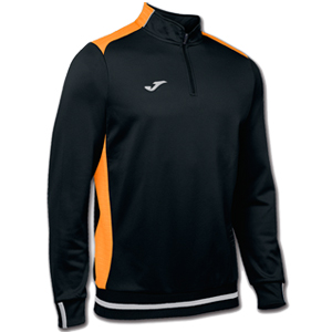 Joma Campus II Polyester 1/4 Zip -  BLACK & ORANGE