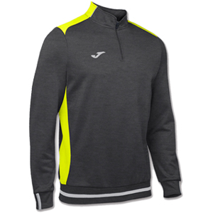 Joma Campus II Polyester 1/4 Zip -DARK GREY& YELLOW