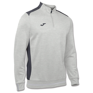 Joma Campus II Polyester 1/4 Zip -WHITE&GREY