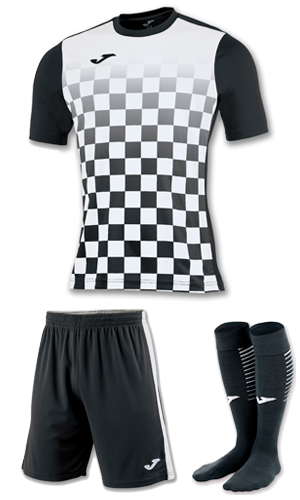 JOMA FLAG KIT BLACK AND WHITE