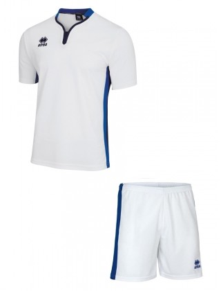 Errea Eiger Short Sleeve Set  - WHITE & ROYAL
