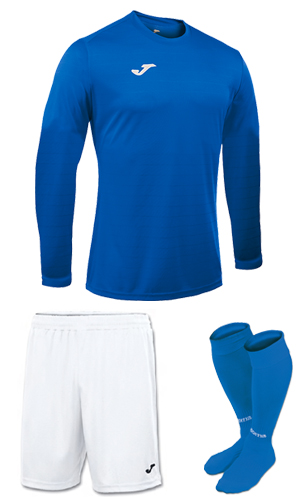 Joma Campus II LS Kit-  BLUE & WHITE