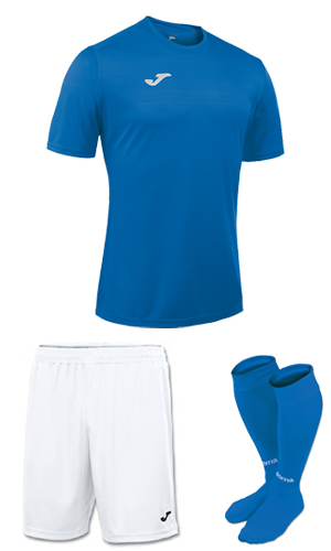 Joma Campus II SS Kit-  BLUE & WHITE