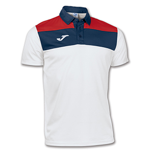 Joma Crew Polo Shirt- WHITE &RED