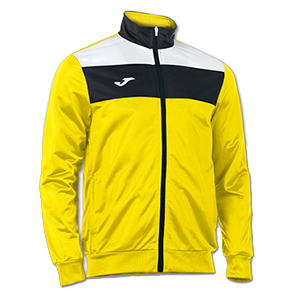 Joma Crew Jacket- YELLOW BLACK & WHITE