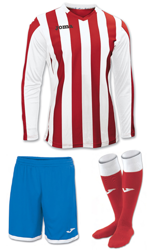 Joma Copa LS Kit-RED WHITE & BLUE