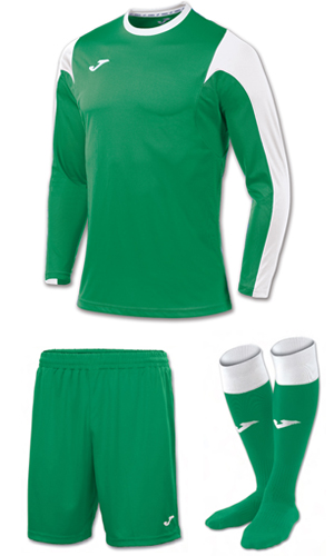 Joma Estadio LS Kit-GREEN & WHITE