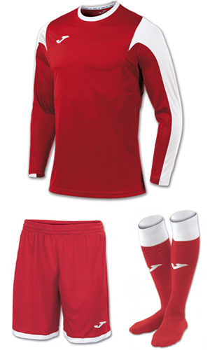 Joma Estadio LS Kit-RED & WHITE