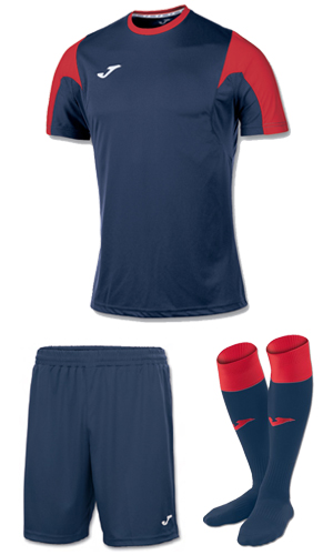 Joma Estadio SS Kit-NAVY & RED