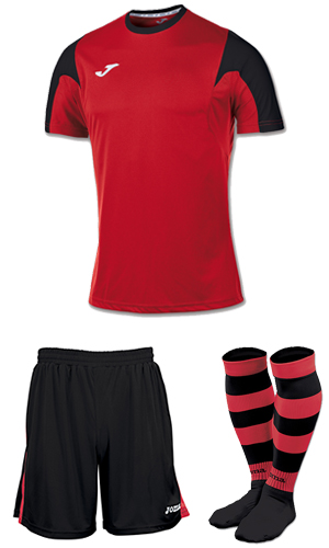Joma Estadio SS Kit-RED & BLACK