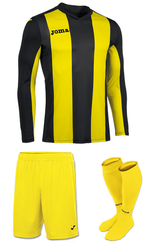 Joma Pisa V LS Kit- YELLOW & BLACK