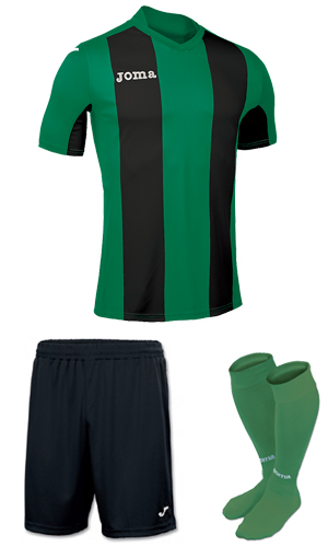Joma Pisa V SS Kit- GREEN & BLACK