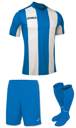 Joma Pisa V SS Kit- BLUE & WHITE