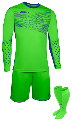 JOMA ZAMORA II GK SET - GREEN & NAVY