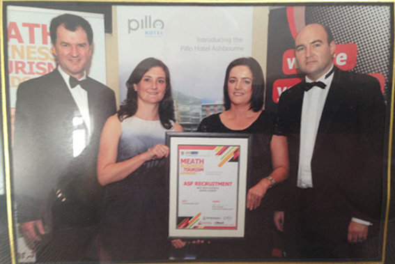 ASF Recruitment 'Best New Business' Award winners in Meath 2012