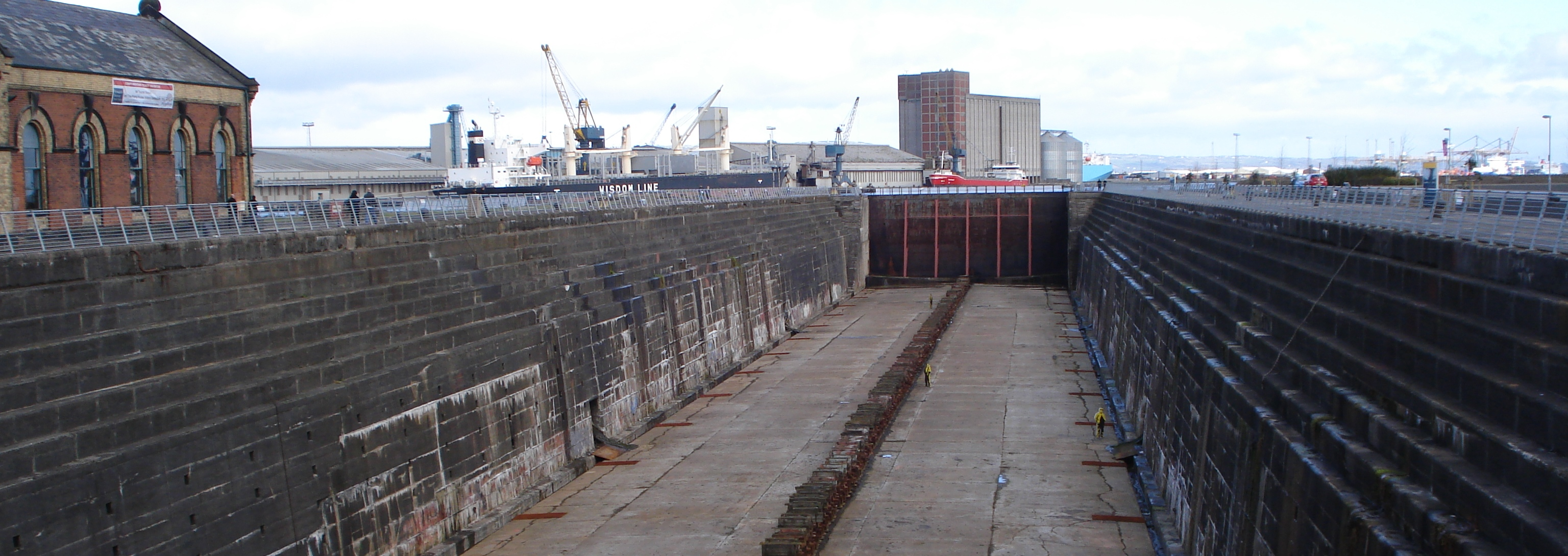 A dry dock, not at Hog Island