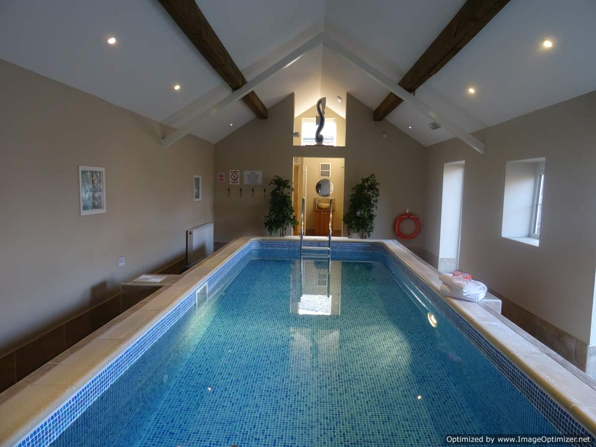 Indoor swimming pool alkington grange holiday cottages for Alton swimming pool opening times
