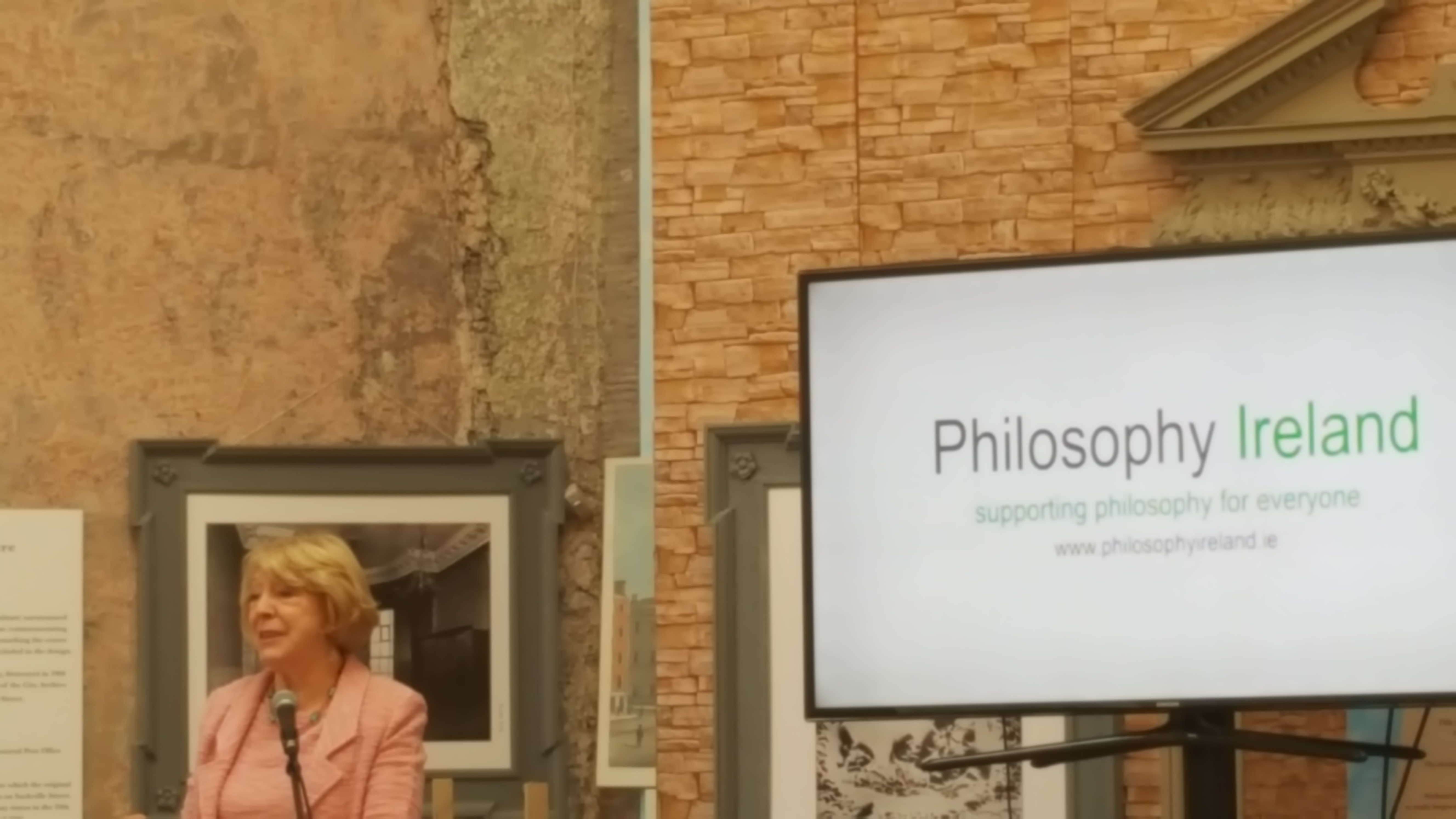 Sabina Higgins speaking at PI Launch