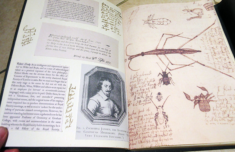 Hooke's book of clippings