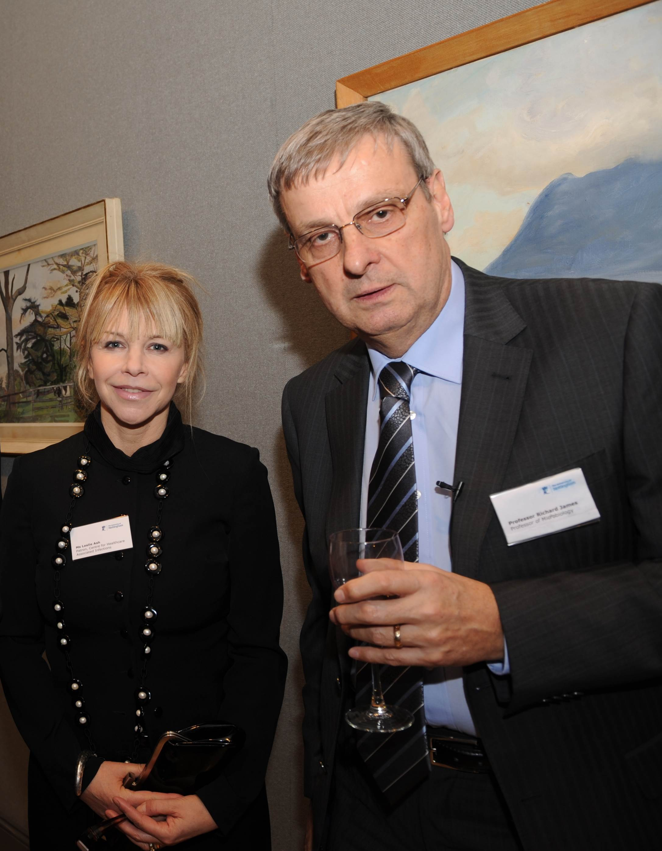 Leslie Ash, Patron of CHAI, with Professor James