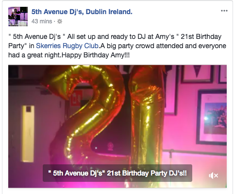 21st Birthday Party DJ Skerries.