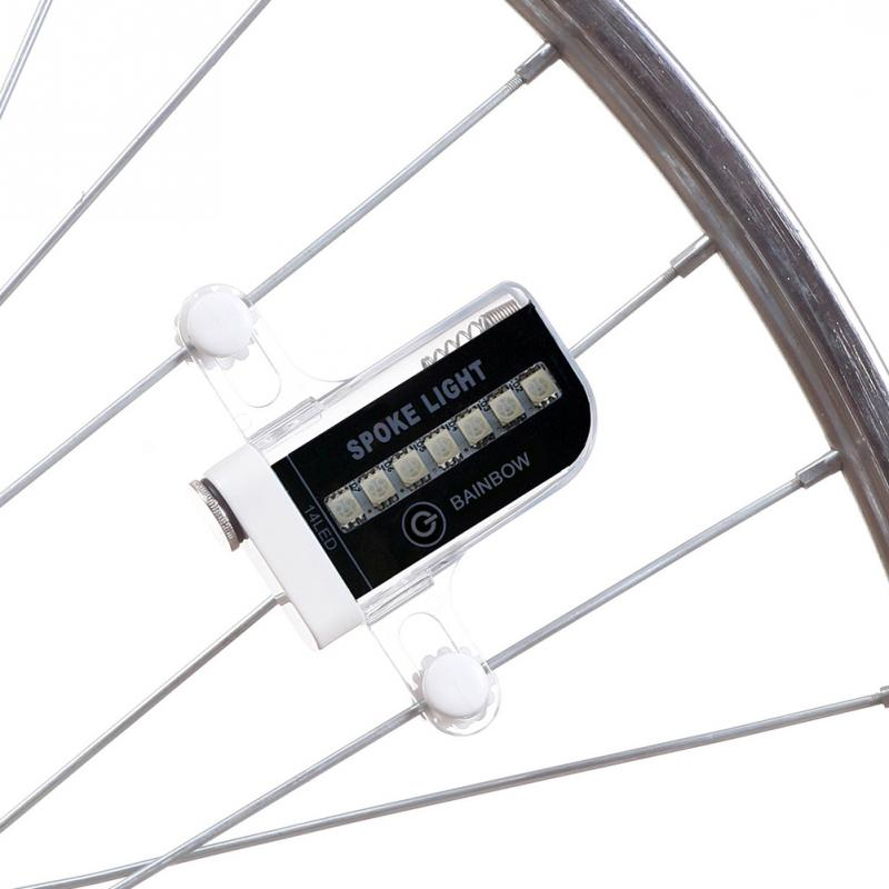 spoke light rainbow led verlichting spaken fiets