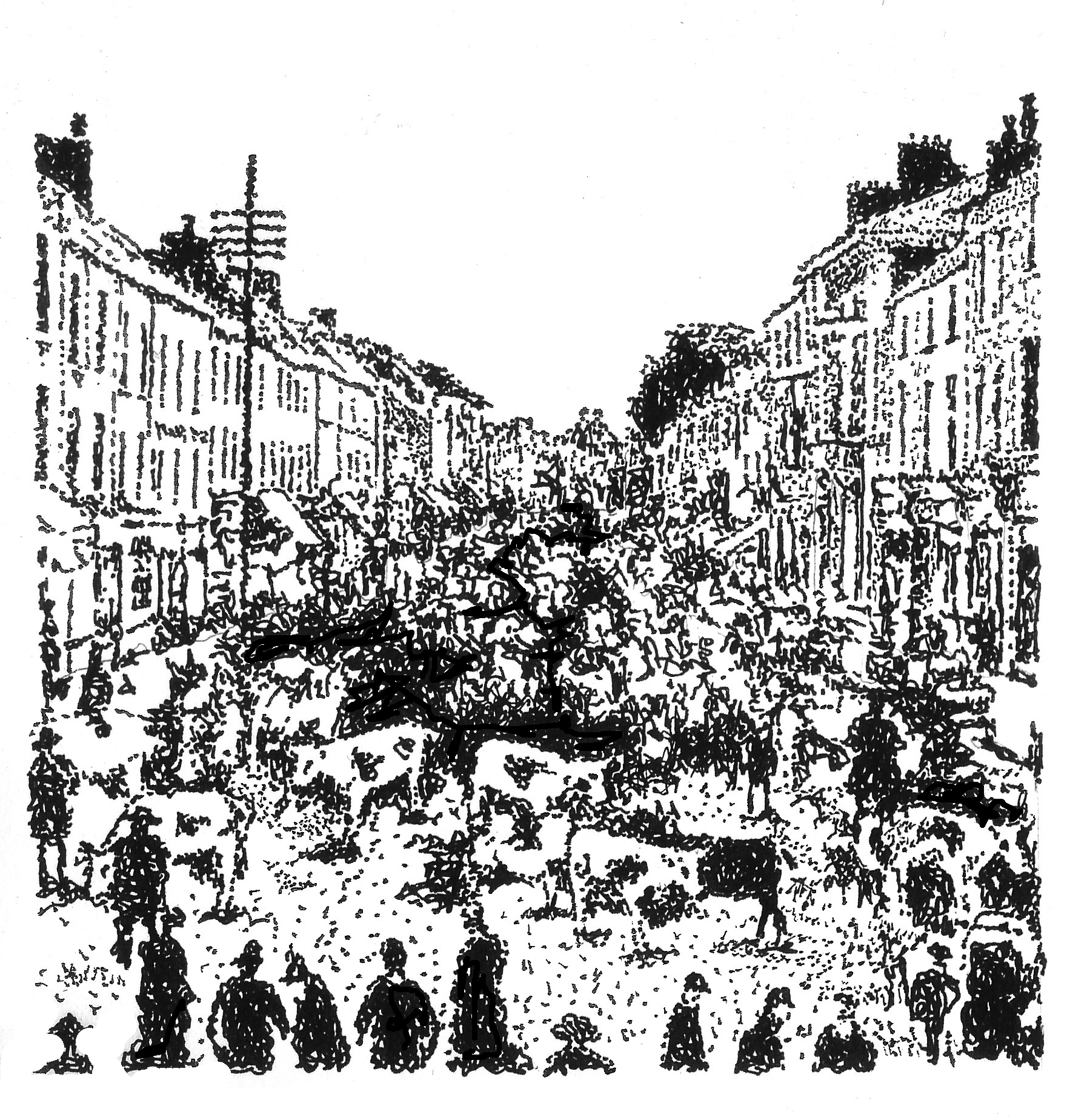 Markets such as the one depicted here were banned due to the ongoing tumult during 1920 and 1921.
