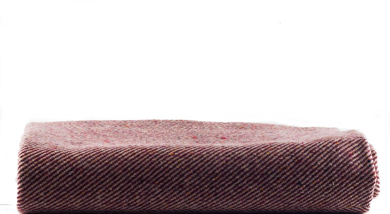 Donegal Tweed by Fabric Affair: Donegal Tweed Twill - Crushed Raspberry